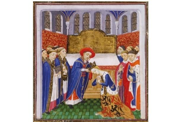 The coronation of Philippa of Hainault