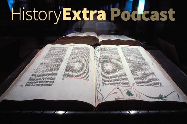 Original Gutenberg Bible, Beinecke Library, Yale Univeristy. (Photo by Alamy)