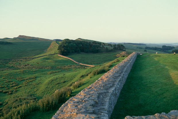 Hadrian's Wall (UNESCO World Heritage Site, 1987), near Housesteads, England, United Kingdom, Roman civilization, 2nd century.