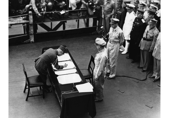 WW2 surrender signed, 2 September 1945