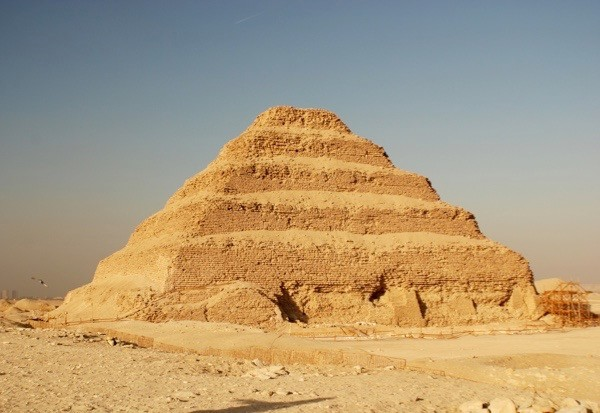 The tomb of Pharaoh Djoser, built at Saqqara