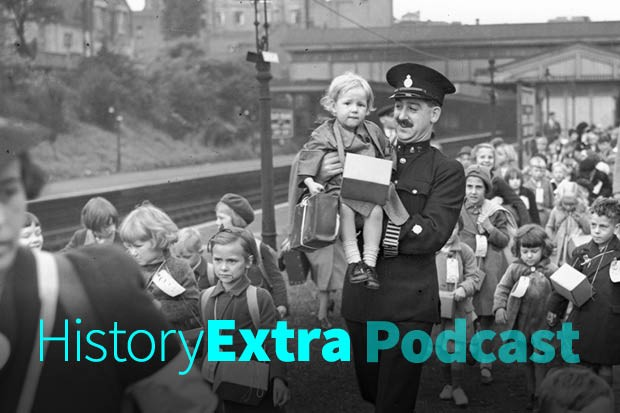 Police and railwaymen assist some of the 800 evacuee children as they leave Ealing Broadway station, London, for the country on 1st September 1939 (Photo by Getty Images)