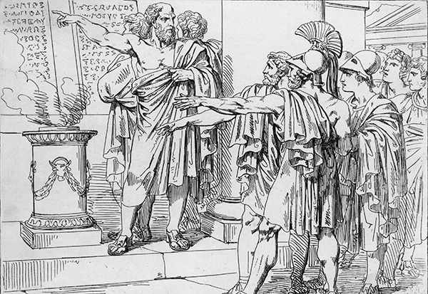 Solon, an Athenian statesman (left) laid the foundations for democracy
