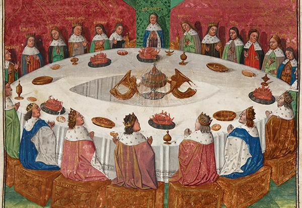 Who were the Knights of the Round Table in Arthurian legend, and where does the Holy Grail fit in?