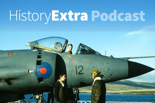 Rowland White explores the Falklands War through the story of the Sea Harrier jump jet. (Image by Getty Images)