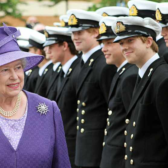 Queen Elizabeth II at Falkland Islands remembrance service 2007