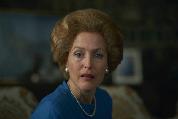 Gillian Anderson as Margaret Thatcher in season 4 of 'The Crown'