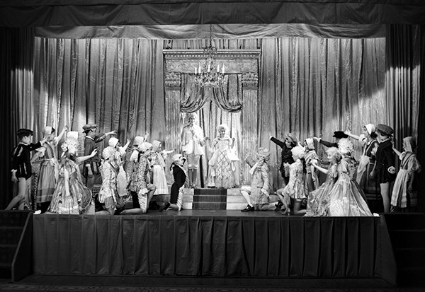Princess Elizabeth (the future Queen Elizabeth II) and Princess Margaret as Prince Charming and Cinderella in a 1941 pantomime