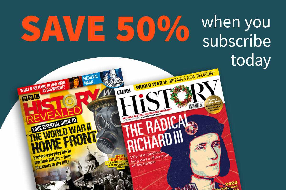 History Magazines 50 subscription