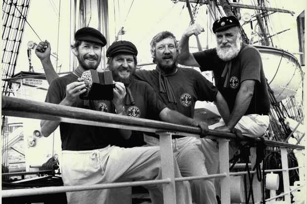 An Australian Sea Shanty band, c1988