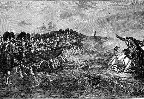 An engraving of the thin Red Line, depicting the 93rd Regiment at the battle of Balaklava