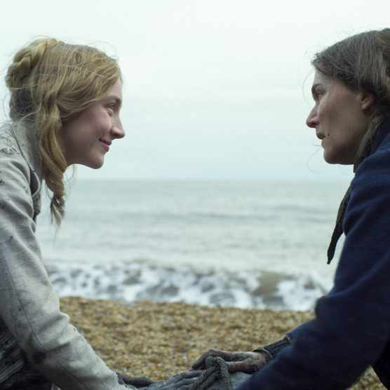 Charlotte Murchison (Saoirse Ronan) and Mary Anning (Kate Winslet) in Francis Lee's new film 'Ammonite'. (Photo courtesy of Lionsgate UK / See-Saw Films)