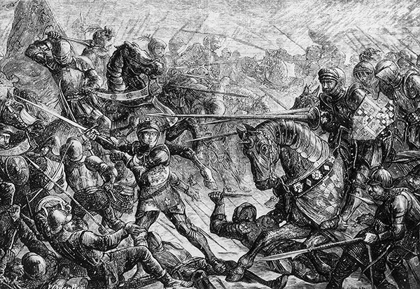The Battle Of Towton, fought on 29 March 1461, was brutal clash in the driving snow fought during the Wars of the Roses