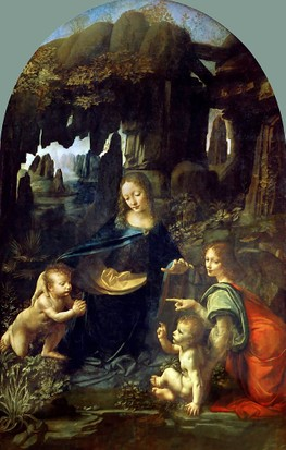 """Da Vinci studied """"strange shapes made by formative nature"""", as seen in his painting Virgin of the Rocks"""