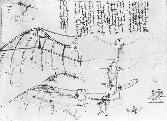 Leonardo da Vinci's design for fixed-wing aircraft