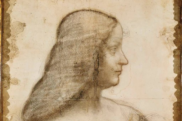 Leonardo da Vinci's full-scale cartoon drawing of Isabella d'Este