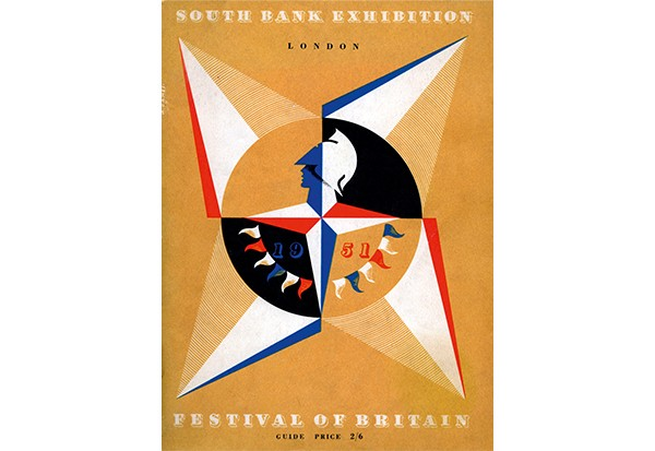 Festival of Britain official programme. The event was held in 1951 on London's South Bank