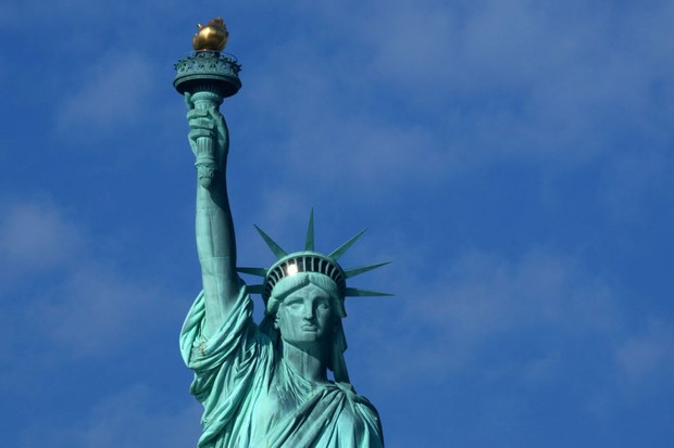 The Statue of Liberty in New York. (Photo by Gary Hershorn/Getty Images)