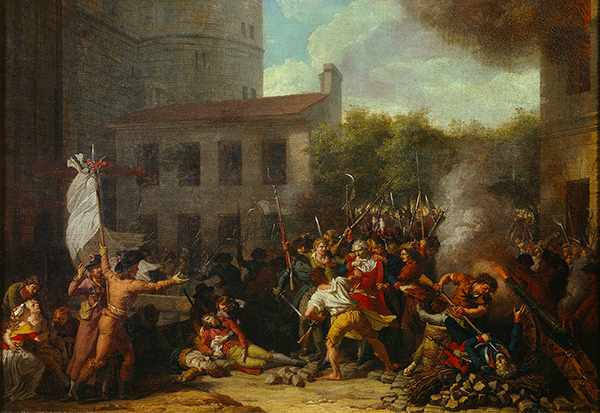 The storming of the Bastille, 14 July 1789, as depicted by artist Charles Thévenin