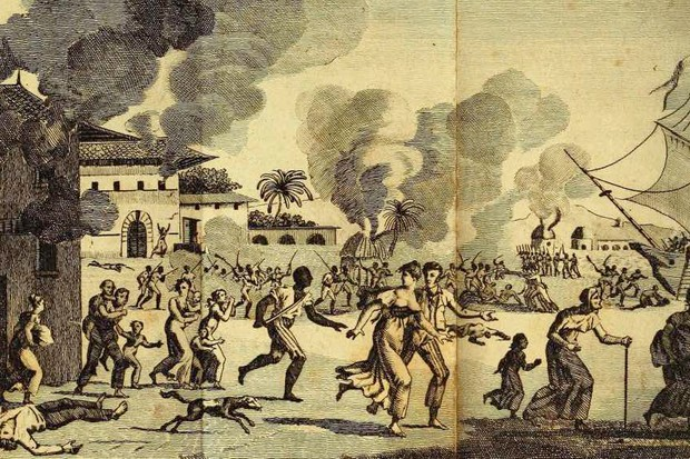 A depiction of the Haiti Rebellion