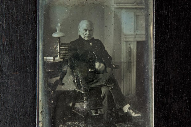 A photograph of President John Quincy Adams