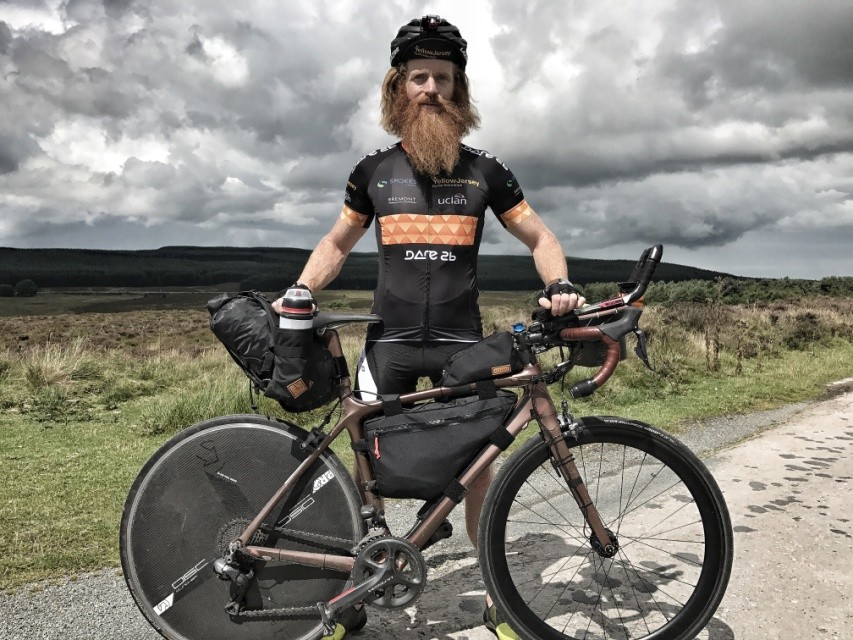 Sean Conway and his bike