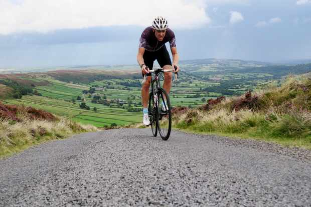 Simon Warren rides the Caper cycling road climb