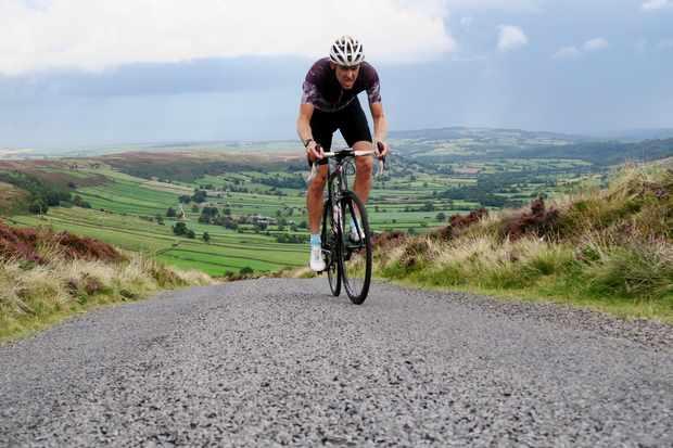 Simon Warren rides the Caper cycling road climb