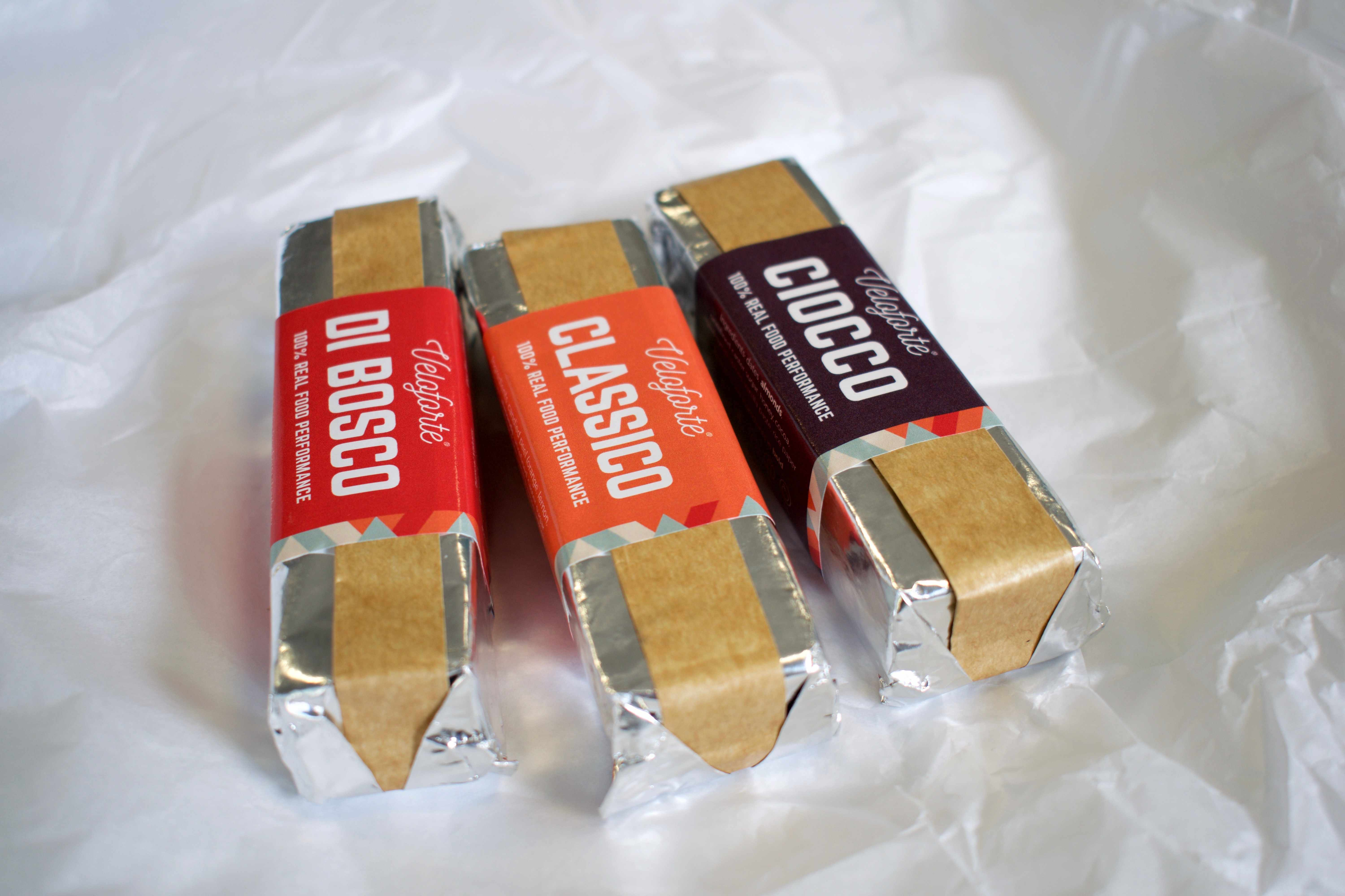 Veloforte's natural and delicious hand-made energy bars