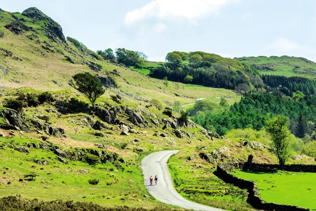 Road Cycling Route near Coniston, Lake District