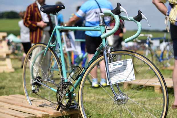 A stunning vintage Bianchi bicycle at Eroica Brittania 2017