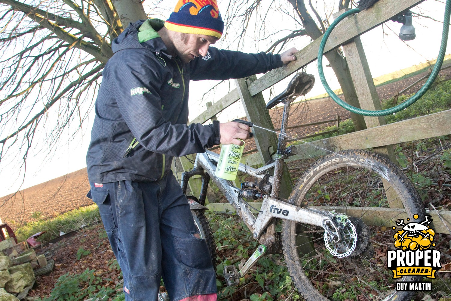 Guy Martin cleans his mountain bike with Proper Cleaner