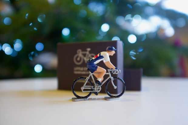 A Little Cyclist metal miniature