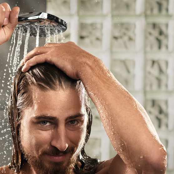 Peter Sagan in a Hansgrohe shower