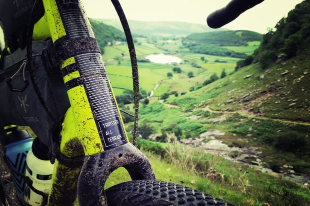 Fork of Kinesis Tripster AT with a beautiful backdrop