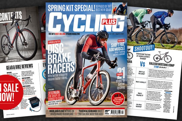 Cycling Plus magazine cover April 2018