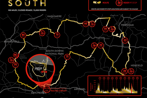 Velo South route map