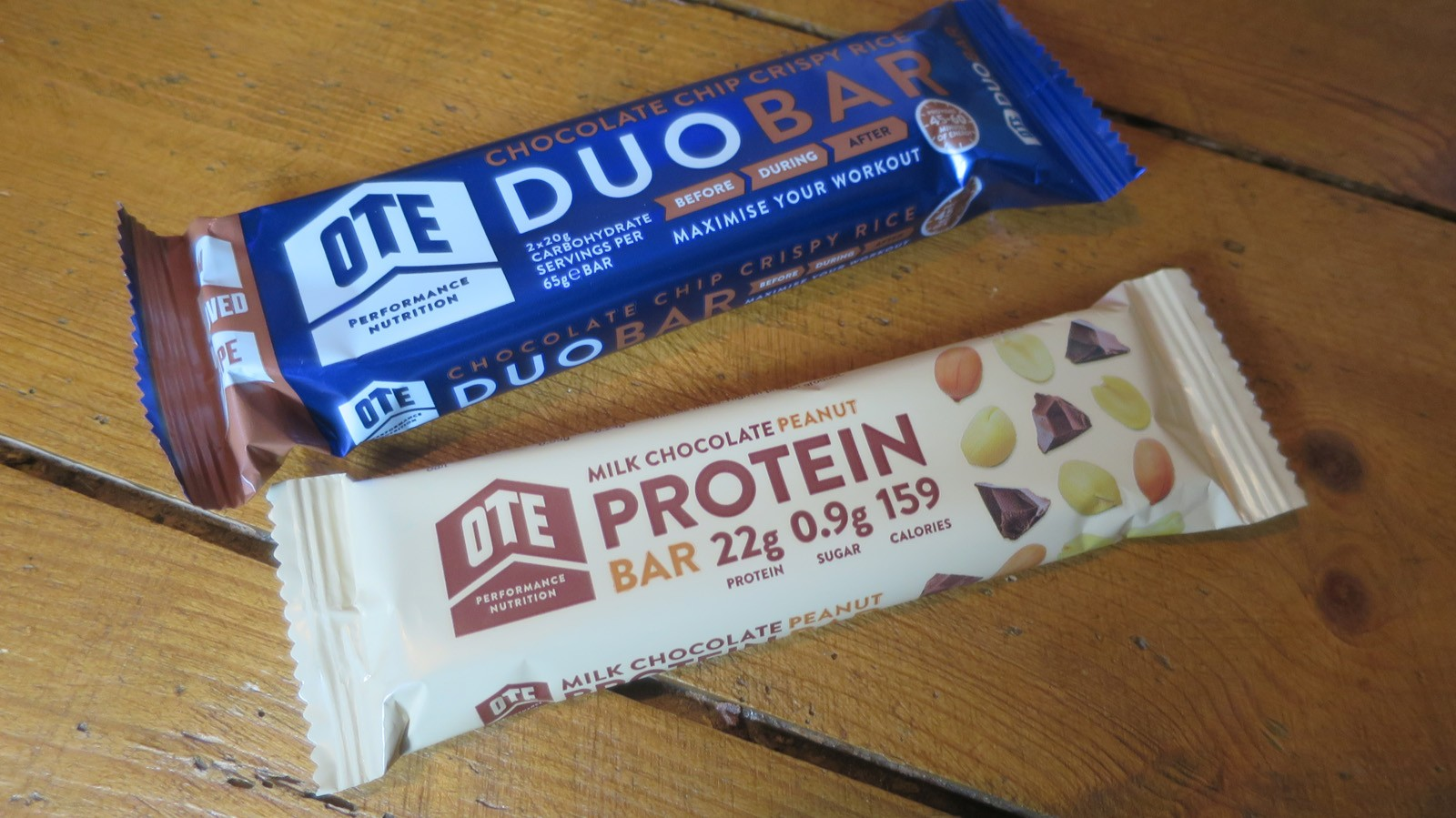 OTE Duo Bar and Peanut Protein Bar