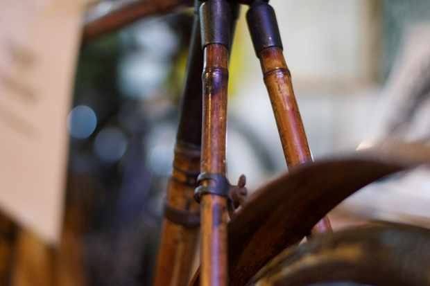 bamboo bike from the 1890s at the National Cycle Museum