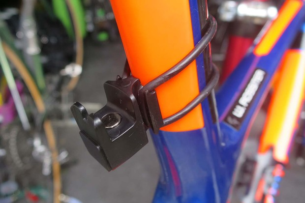 Knog's Plus lights use a neat magnetic cradle to fit to your bike either vertically or horizontally