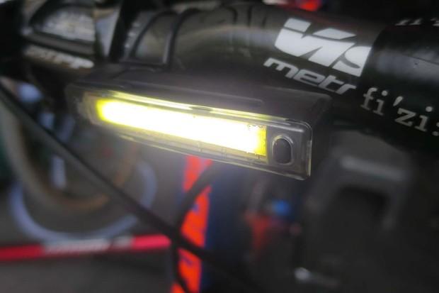 The front light boasts 40 lumens of brightness