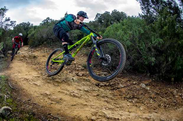 Ed an Weavs riding Punta Ala for Bike of the Year