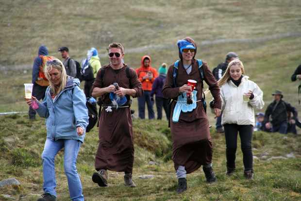Fancy dress fans at Fort William world cup 2017