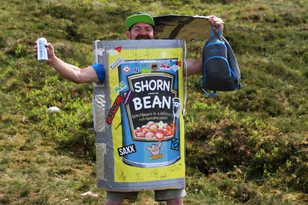 man dressed as baked beans at Fort Bill world cup