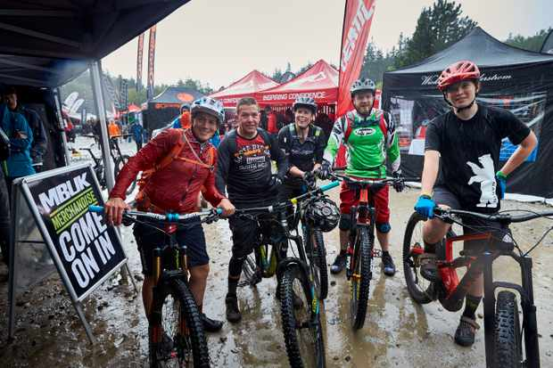 wet and muddy in the pits