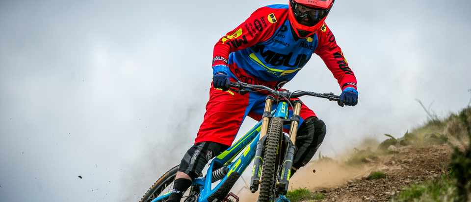 Alex Bond rides GT bicycles Fury at Moefre in mid Wales for team MBUK