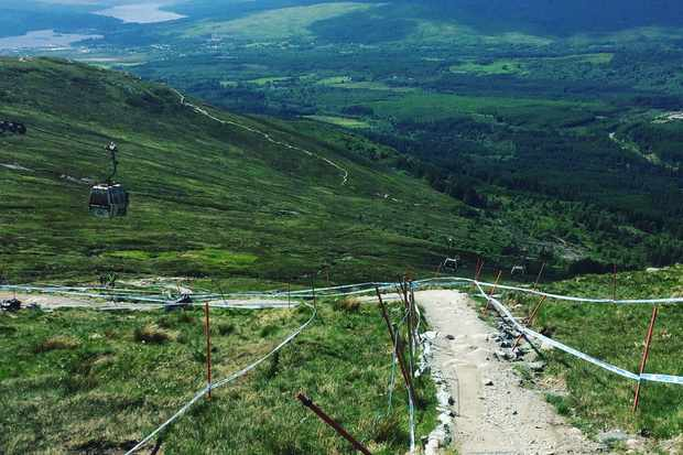 The downhill track at Fort William