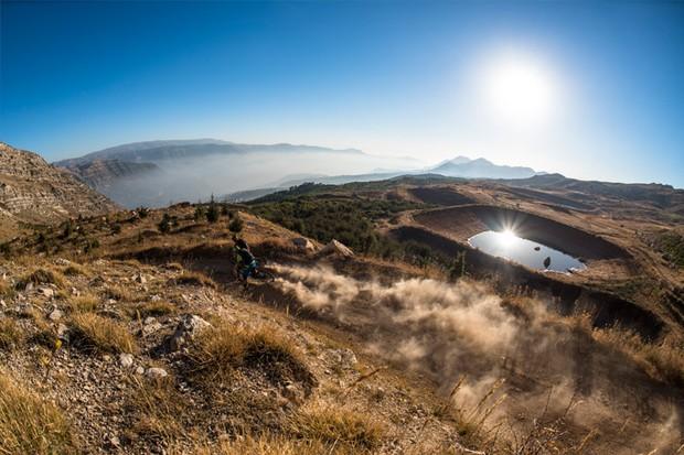 Dan Milner and rider blast down Lebanon's hillsides