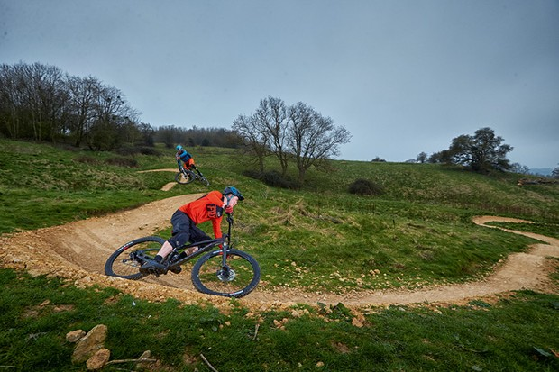 Two £1500 full suspension bikes being tested