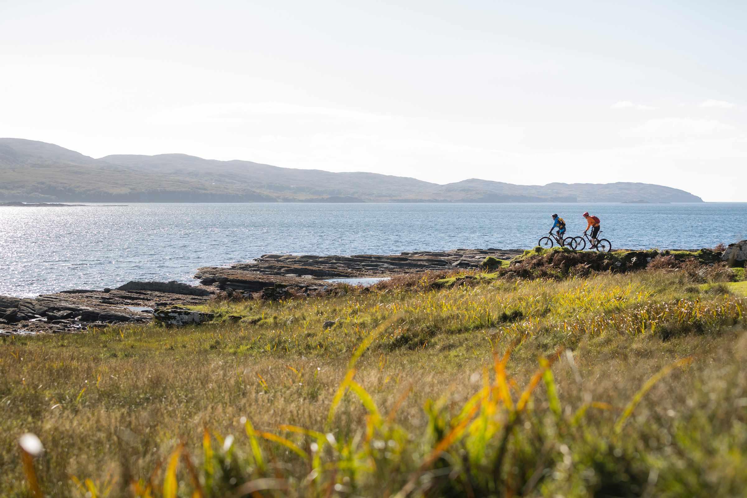 Riding waters edge Boreraig